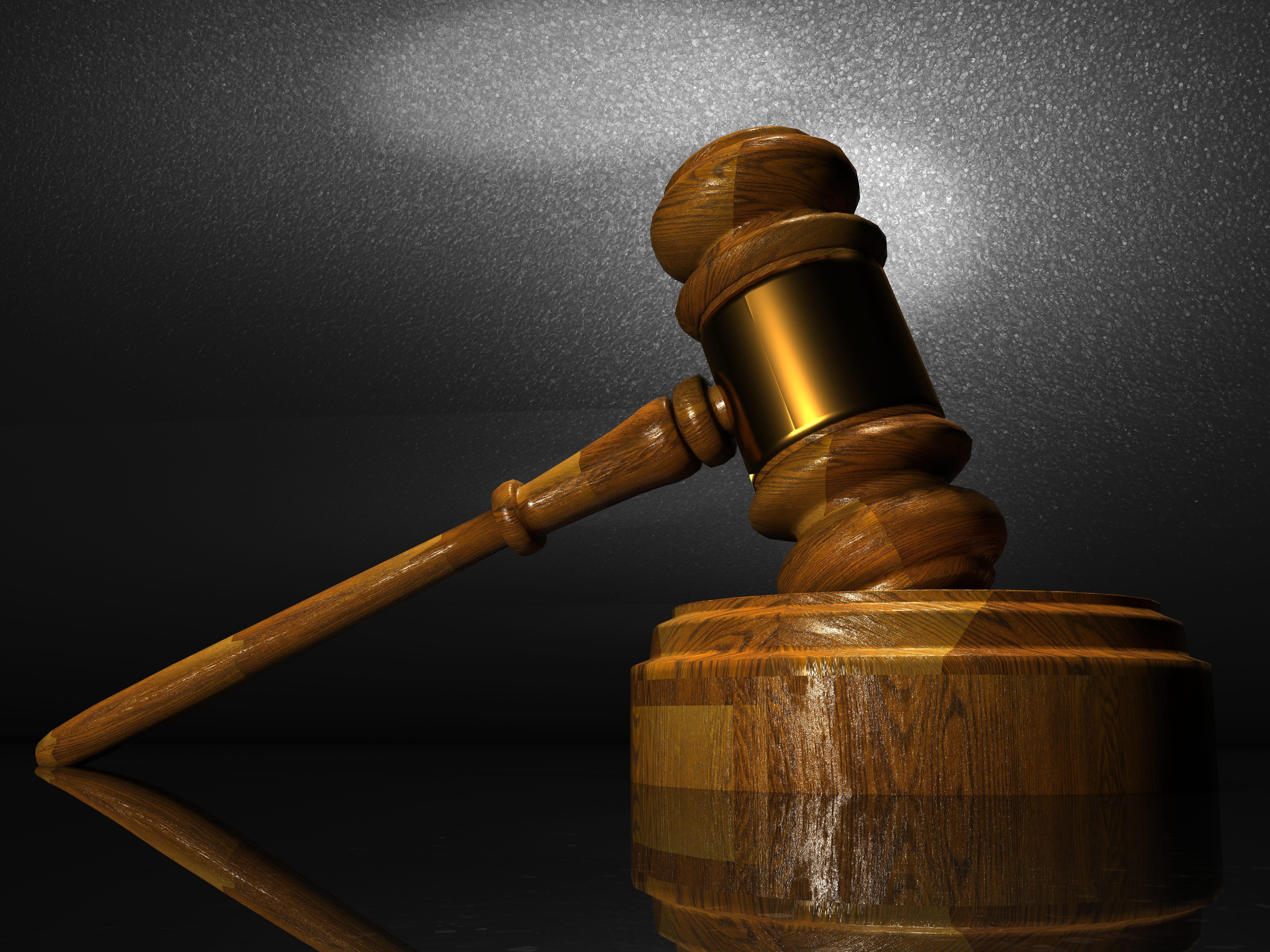 Brown Mallet Law Justice Court Judge Legal Lawyer Crime