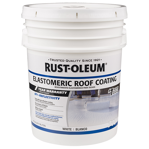 Rust Oleum 7 Year Elastomeric Roof Coating Provides A High Initial Reflectivity Value Of 67 Energy Effi Roof Coating Elastomeric Roof Coating Galvalume Roof