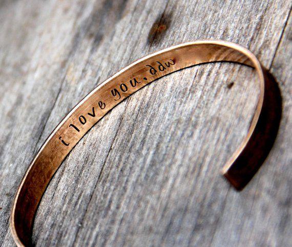 Men/'s Bronze Cuff Bracelet Bronze Gift for Him 8th Anniversary Gift