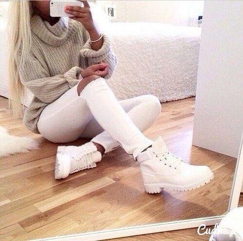 White-Jeans-Knitwear-Boots-Girl-Style-Rozaap