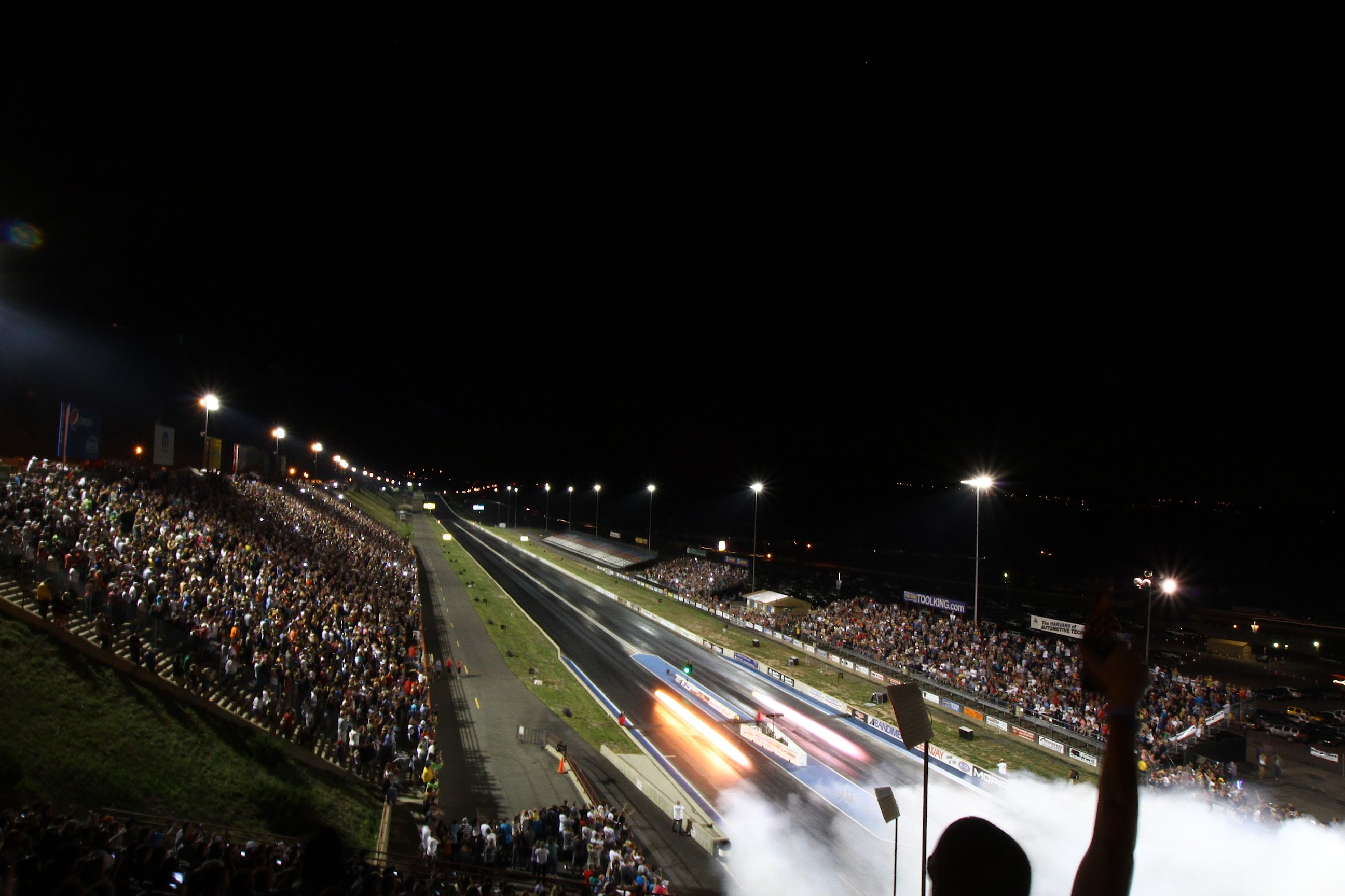 Jet Dragsters At Night At The Big O Tires Jet Car Nationals And
