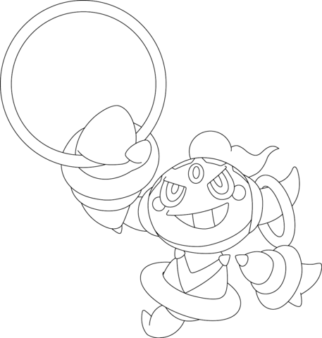 pokemon coloring pages servine moveset | Click to see printable version of Hoopa Pokemon Coloring ...