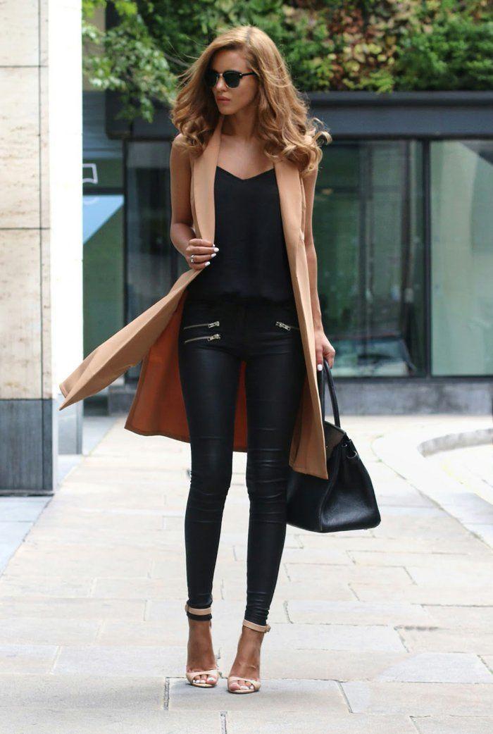 Jean noir habille femme