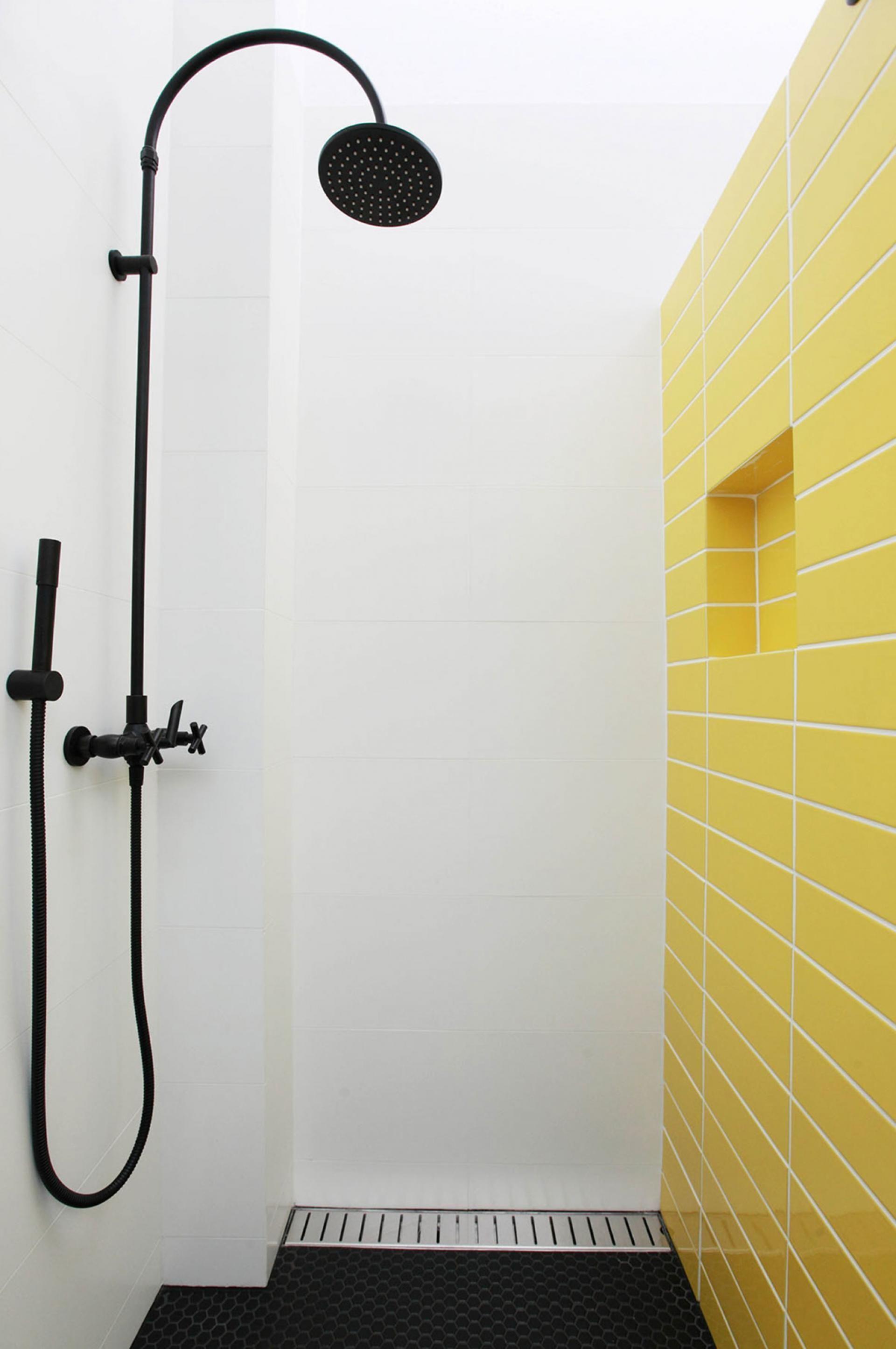 Innovations For Interior Designs With Ceramics Yellow Bathroom Tiles Bathroom Shower Design White Bathroom Designs