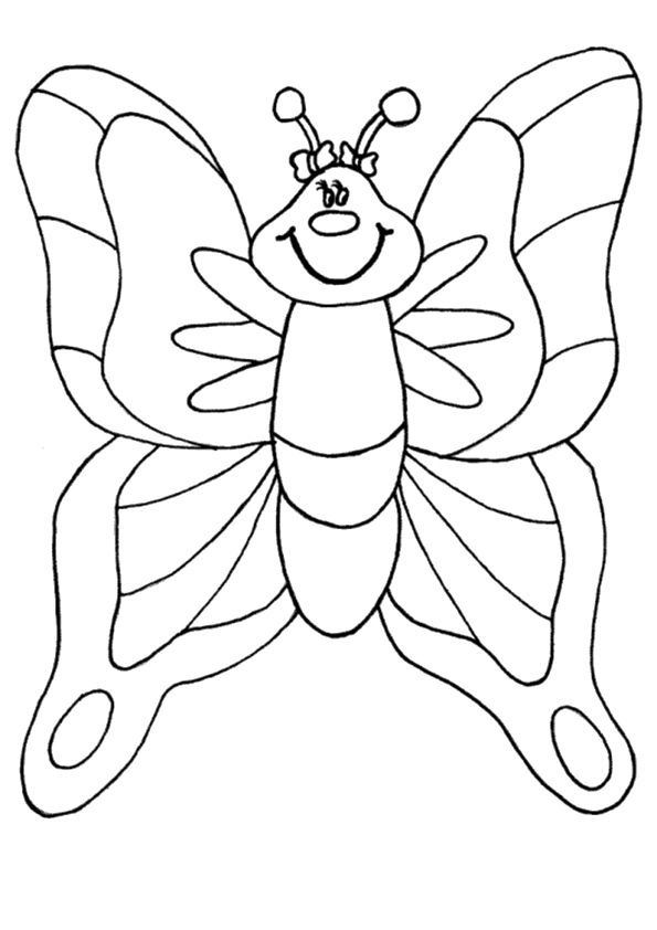 Print Coloring Image Bugs Butterflies And Catepillars Pinterest