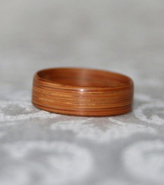 Bamboo Ring Or Wedding Band Etsy