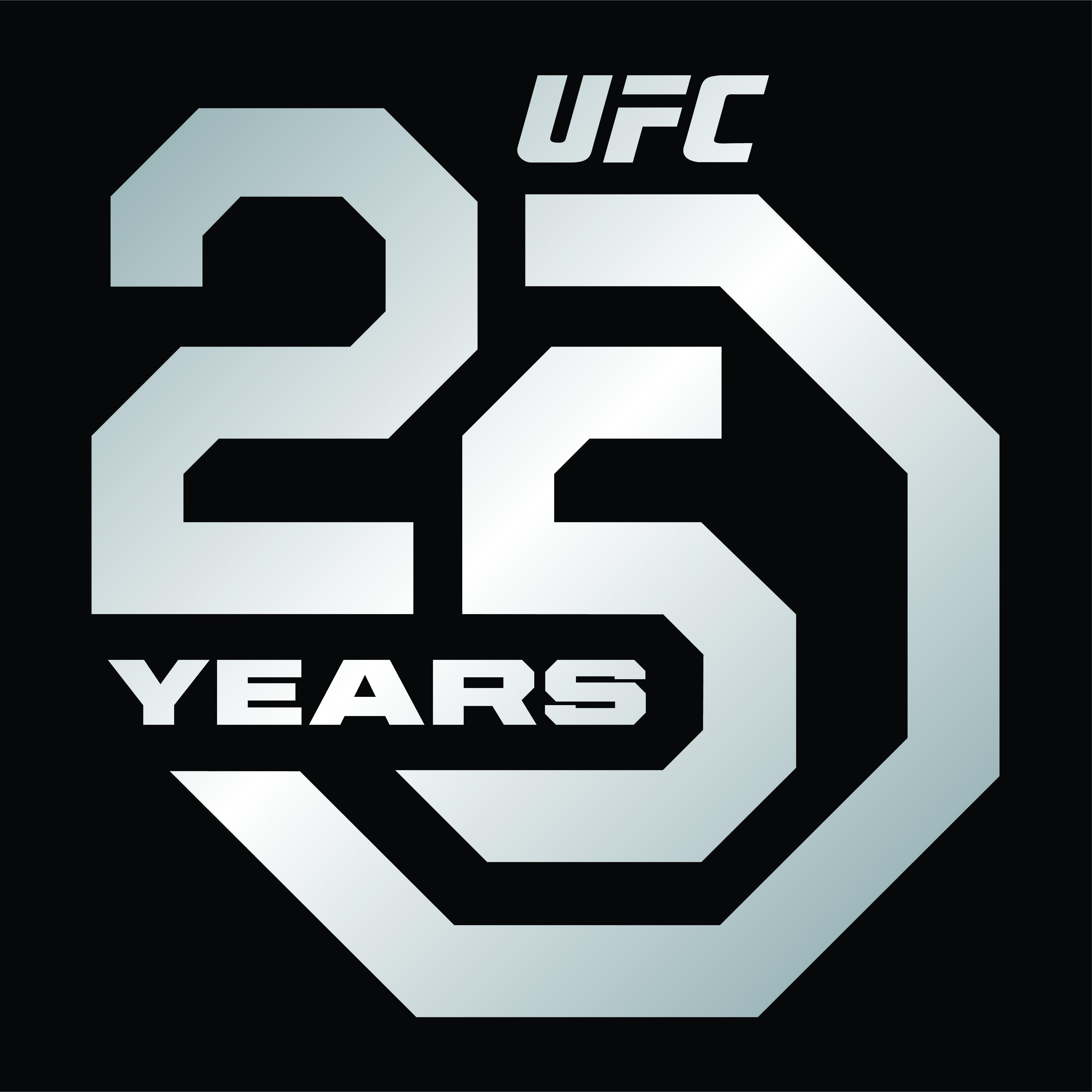 Ufc Unveils 25th Anniversary Logos Anniversary Logo Ufc Logos