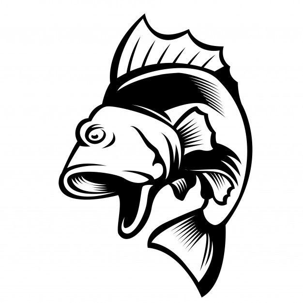 Saltando el logo de la mascota de pez gordo Vector Premium ...