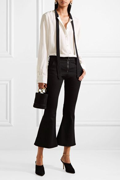 Tuxe Bodywear - The Boss pussy-bow silk crepe de chine bodysuit