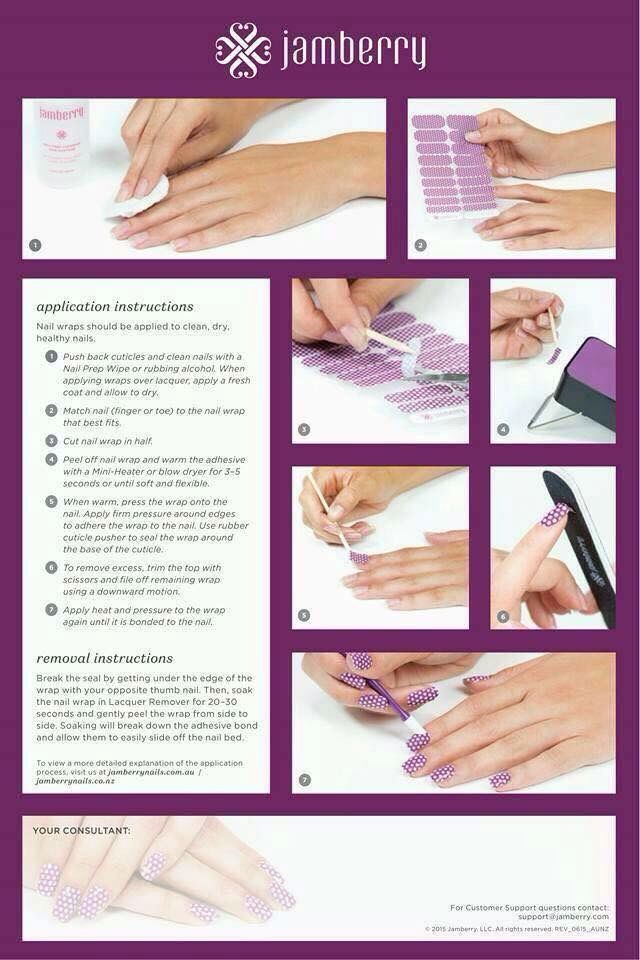 Application Instructions Jamberry Nails Pinterest Jamberry