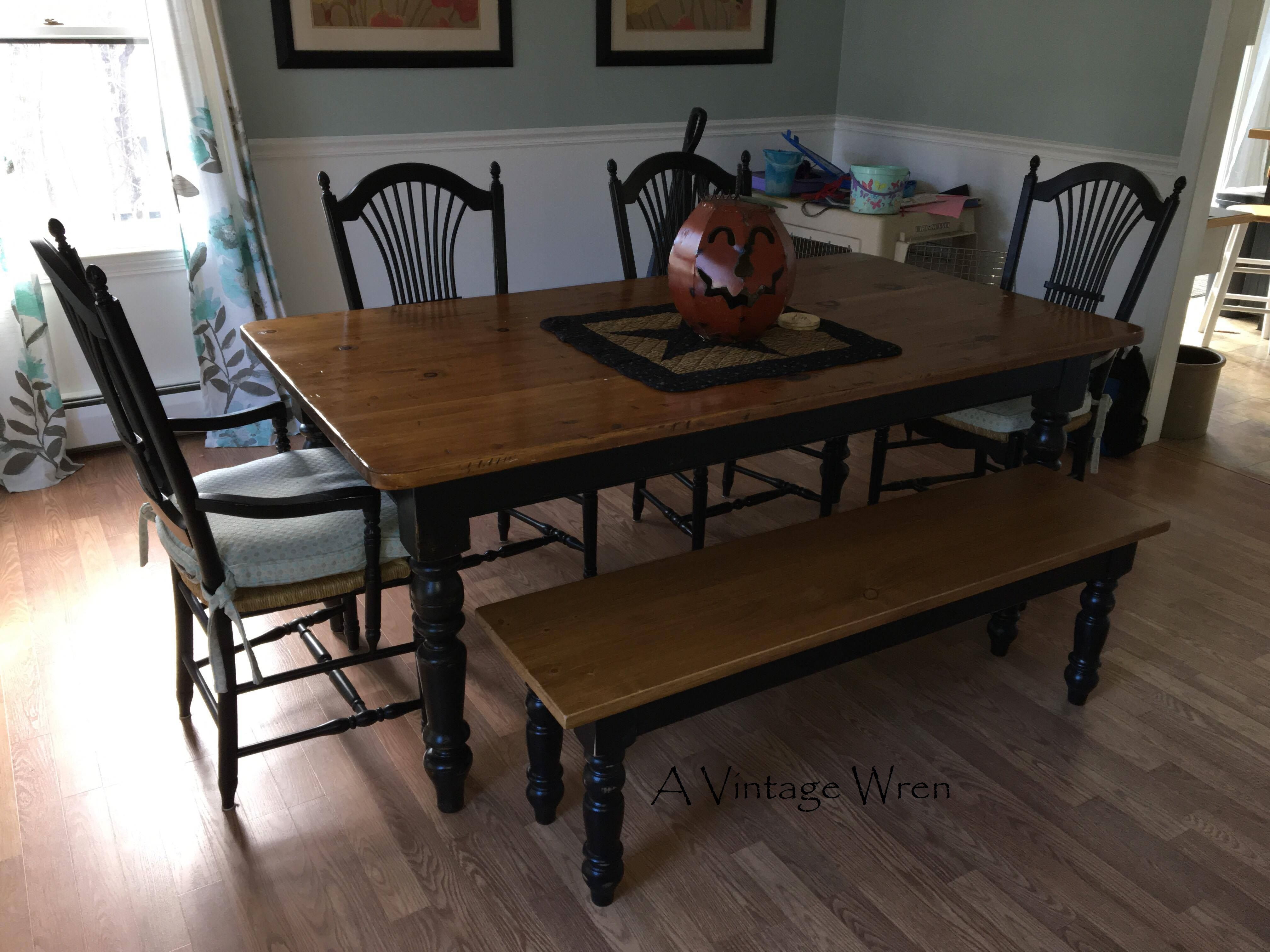 Custom Bench Made To Match Client Existing Table Stained In A Amusing Custom Dining Room Tables Inspiration Design