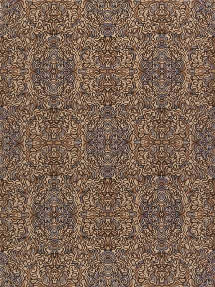 Fort Street Studio S Victoria Wild Silk Carpet In Blue Brown