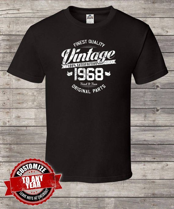 Finest Quality Vintage Since 1968 50th Birthday Gifts For Men Gift Ts