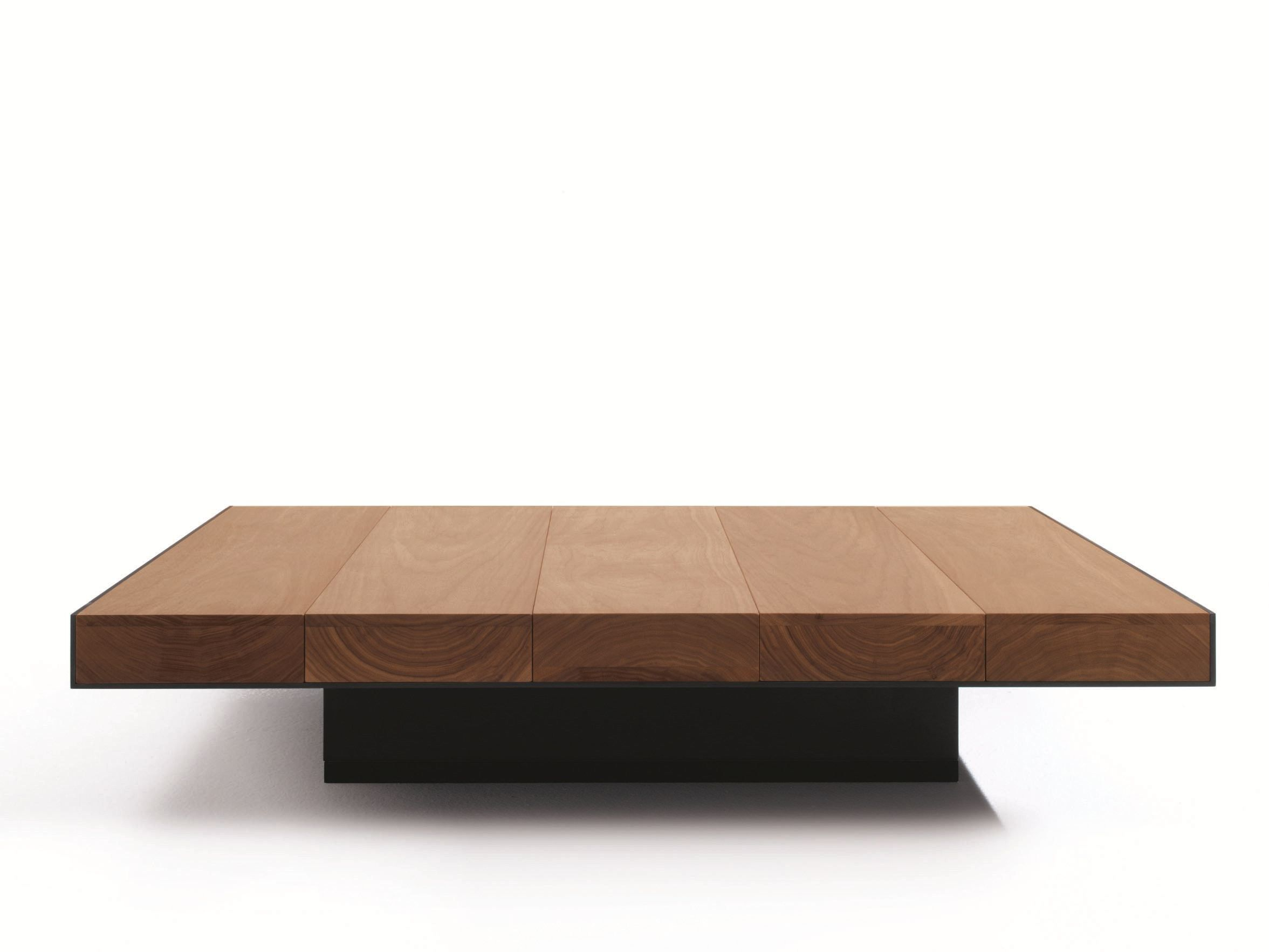 Low Square Solid Wood Coffee Table Deck By Lema Design Christophe
