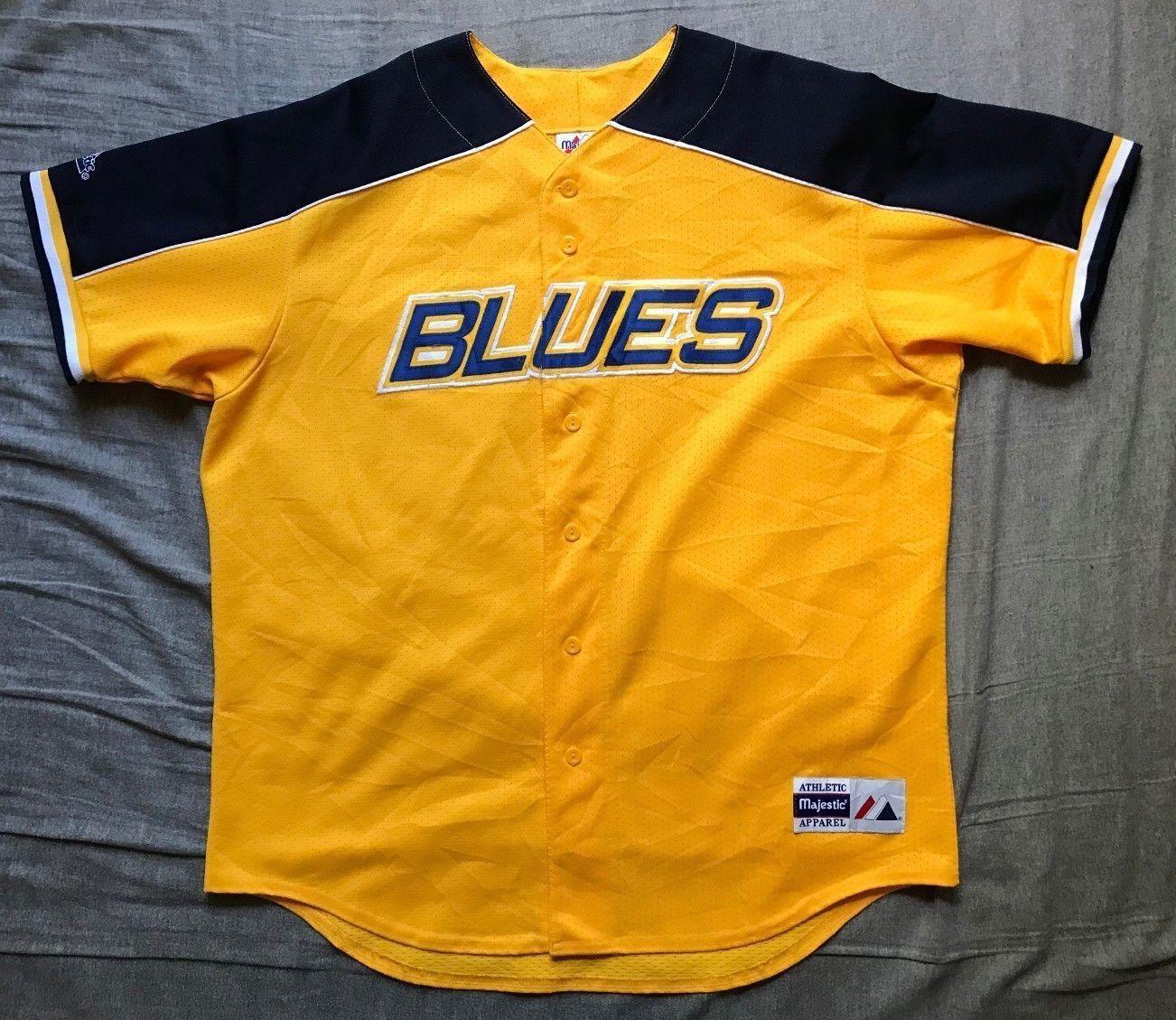 3ec540bf30d ... mens majestic nhl st louis blues baseball jersey size xl