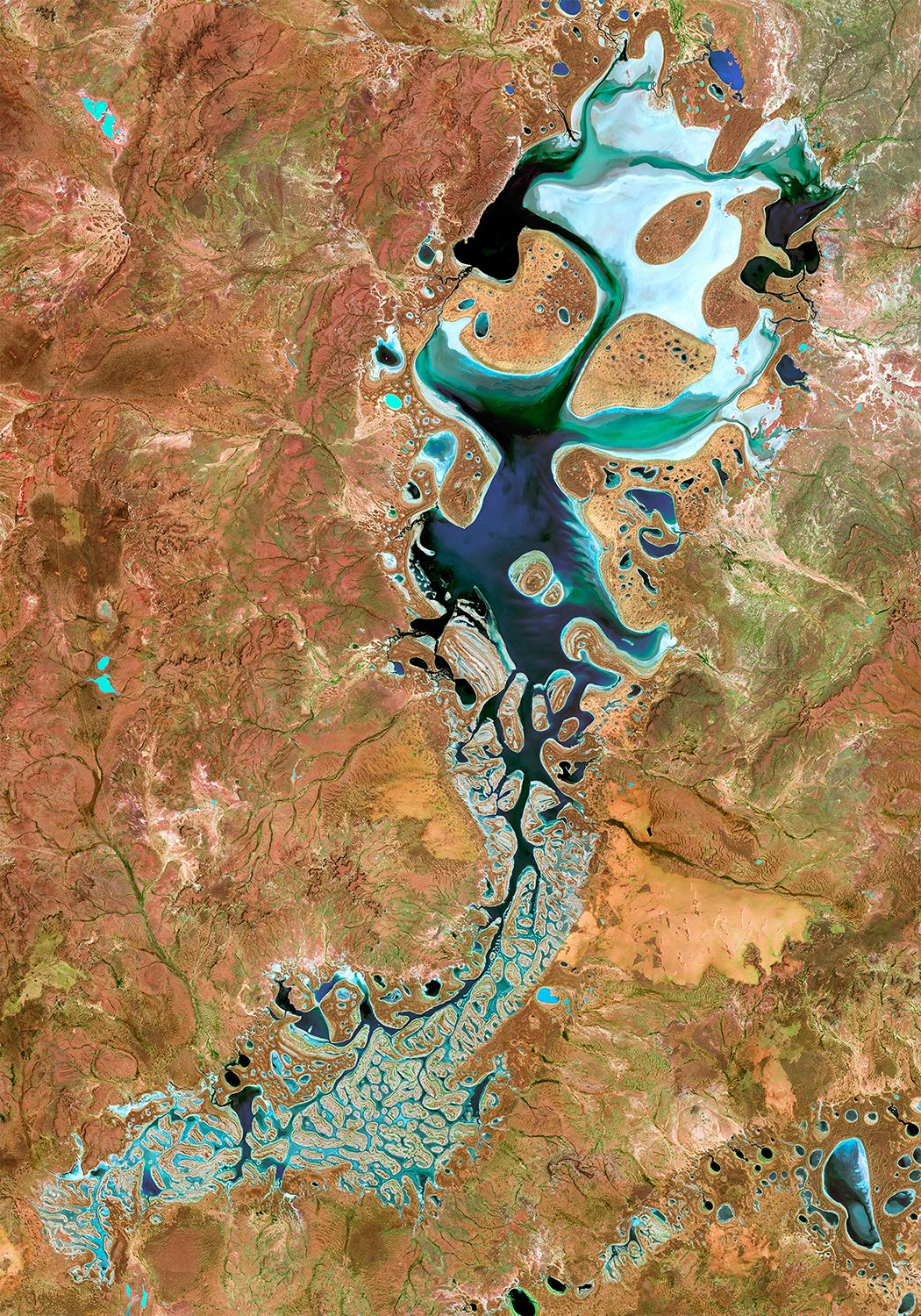 Our Satellite Image Poster Motif Lake Carnegie Located In Western Australia Lake Carnegie Is Named After David Carnegie Who Explored Much Of Inland Au Wande