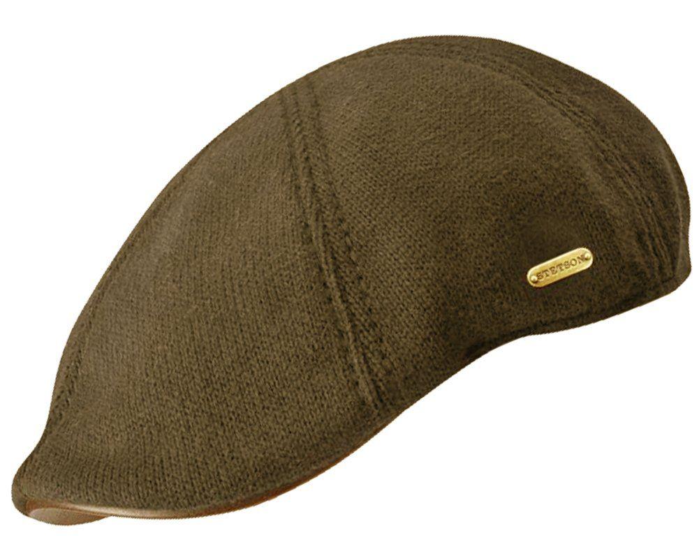 93425628bec Stetson Muskagon Knitted Cotton Duckbill Flat Cap at Amazon Men s Clothing  store  Skull Caps
