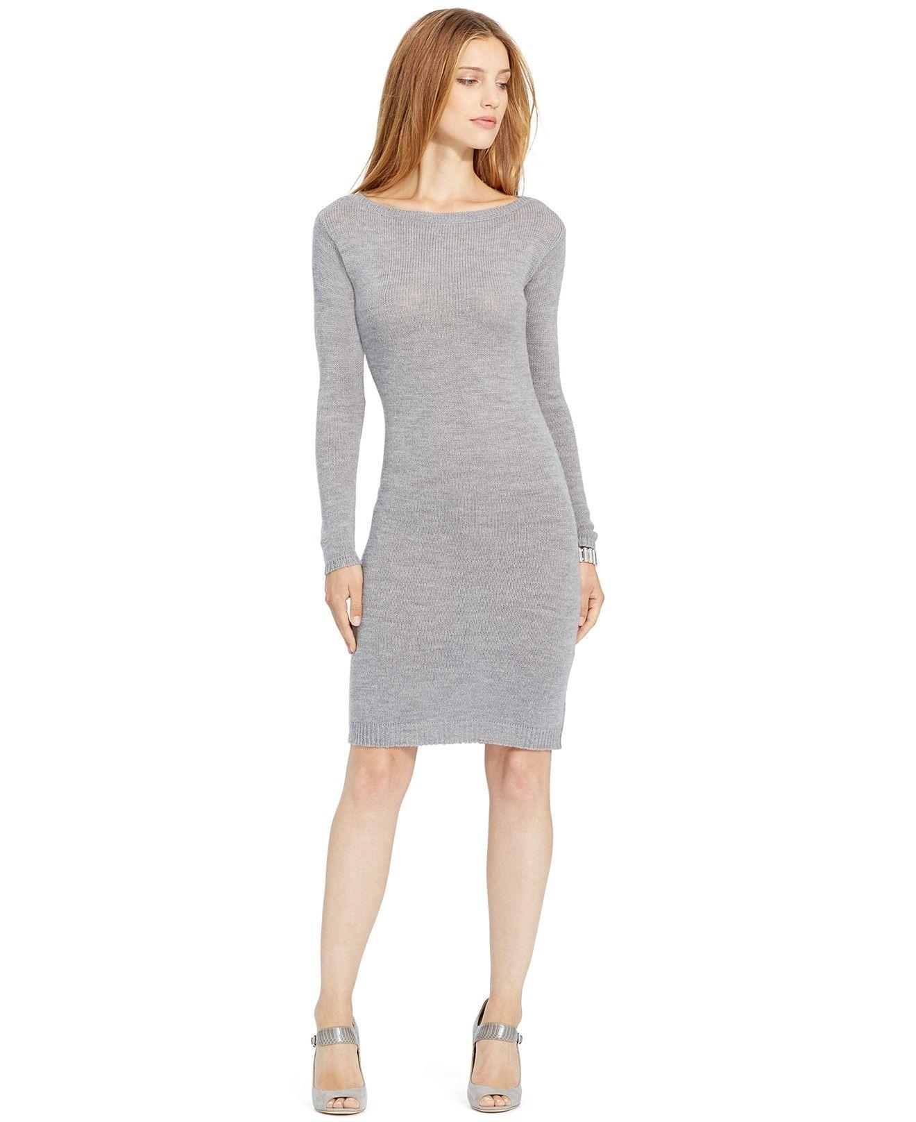 Lauren Ralph Lauren Merino Wool Sweater Dress - Dresses - Women - Macy's
