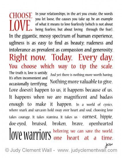 The (fearless) Love Manifesto