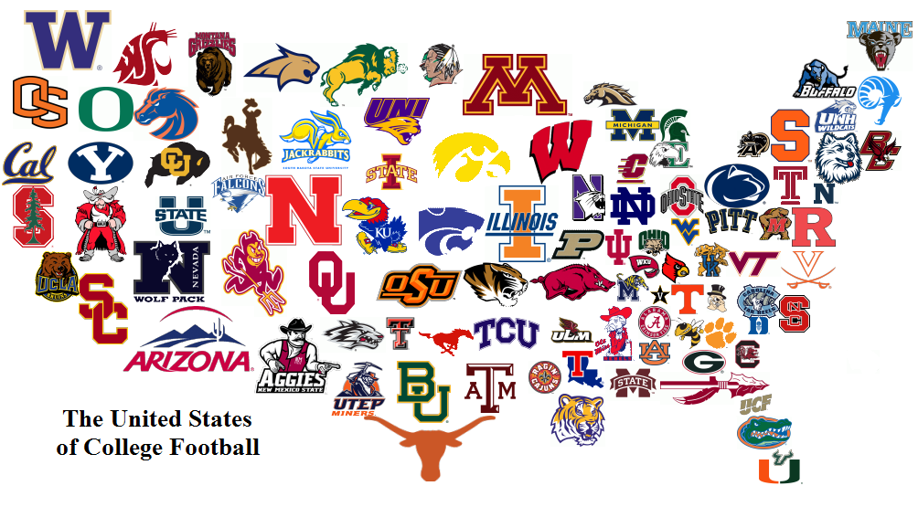 college football logos of