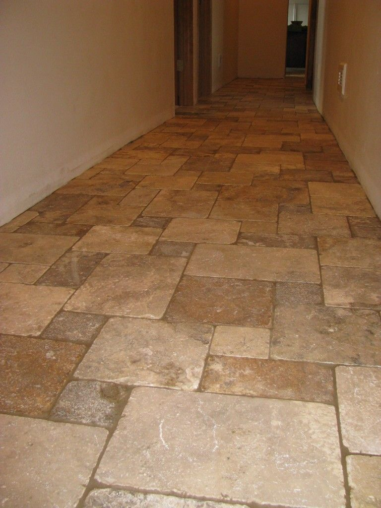 Travertine Floors In Kitchen Tile For Kitchen Floor Love The Look Of French Pattern