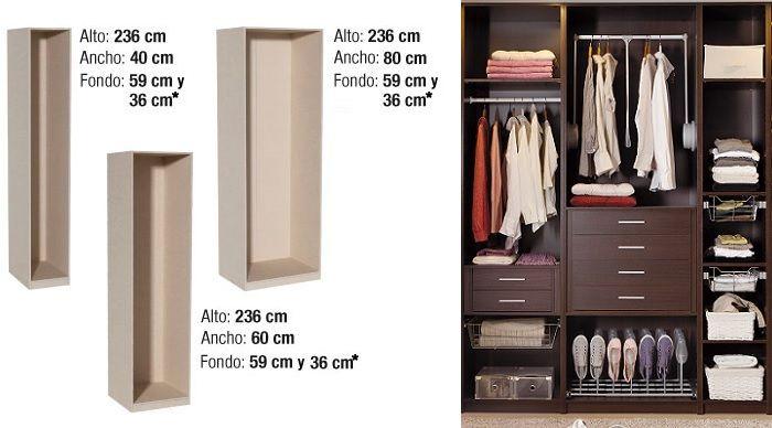 Armario modular spaceo leroy merlin spaceo leroy for Armarios fondo 30 cm
