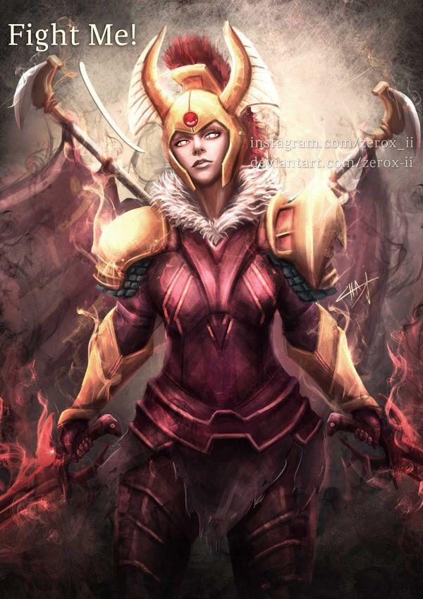 Dota2 Legion Commander Arcana By Zerox Ii Dota 2 Dota 2 Wallpaper Fantasy Female Warrior