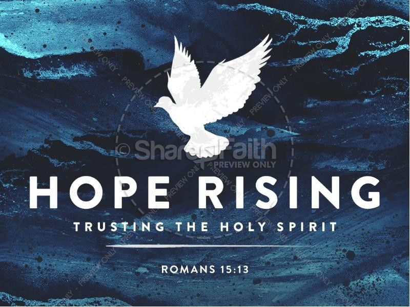 Hope Rising Religious PowerPoint | Sermon Graphics for