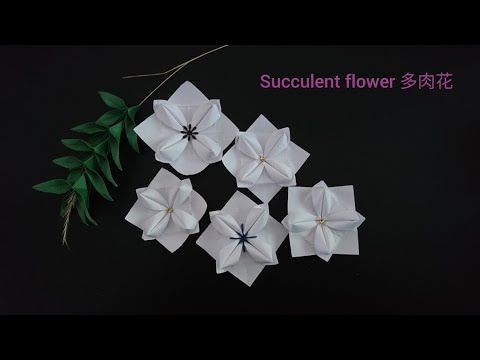 Origami succulent flower youtube orikami pinterest origami succulent flower youtube mightylinksfo