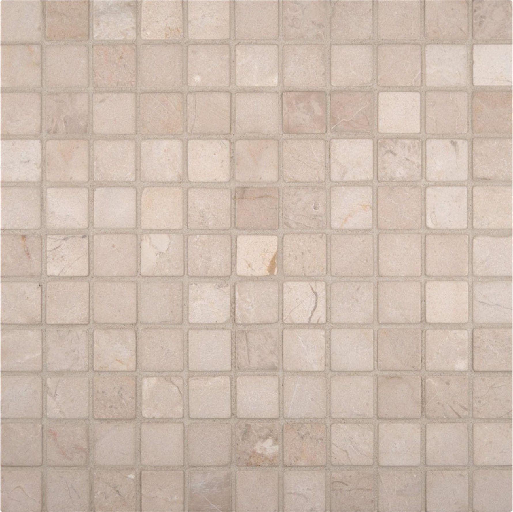 12x12 Crema Marfil 1x1 Tumbled Marble Mosaic Mosaic Tiles Marble Mosaic Crema Marfil Marble Tiles