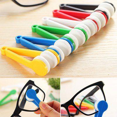 Mini Portable Sun Glasses Eyeglass Microfiber Cleaning Brush