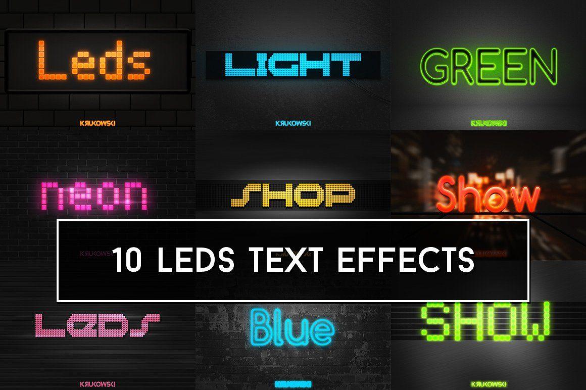 LEDs Lights Text Effects #design#led#light#smart   Art Design