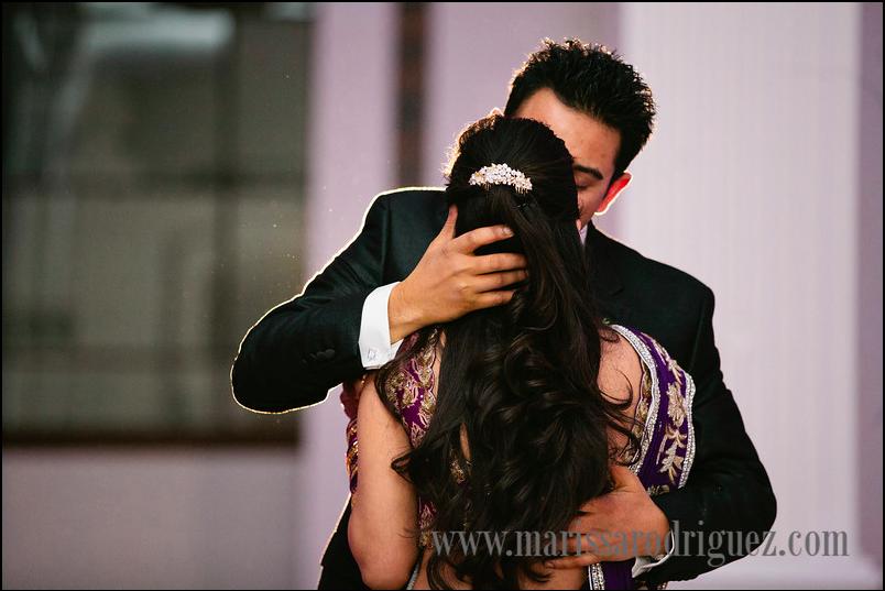 Crystal Hair Clip, Wedding Hair, Purple, Gold, Purple and Gold, Lengha, Kiss, Half Up Half Down Hair, Indian Wedding.