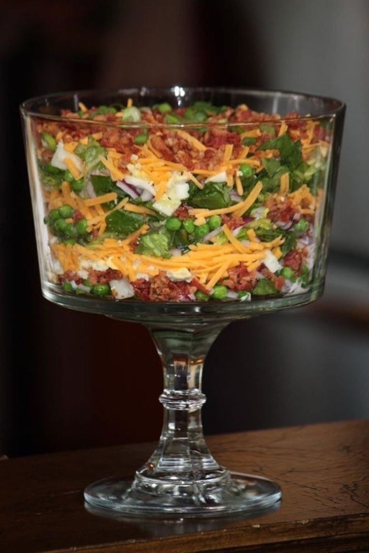 Seven Layer Salad In 2020 With Images Layered Salad Layered Salad Recipes Seven Layer Salad