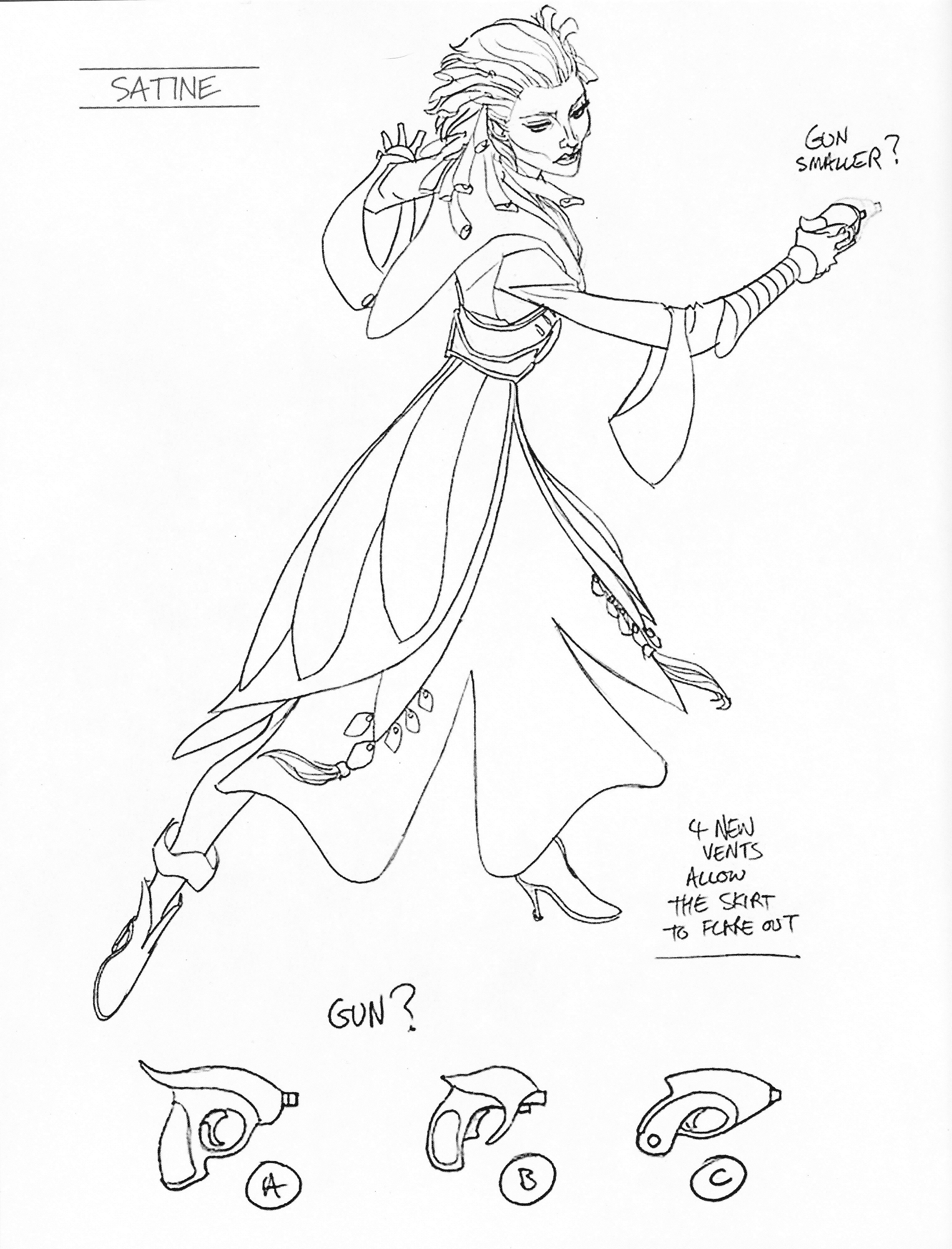 Duchess Satine Kryse concept art droid deactivator.   Handmade Star ...