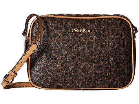3ebe5322f CALVIN KLEIN Hudson Monogram Crossbody. #calvinklein #bags #shoulder bags  #leather #crossbody #lining #