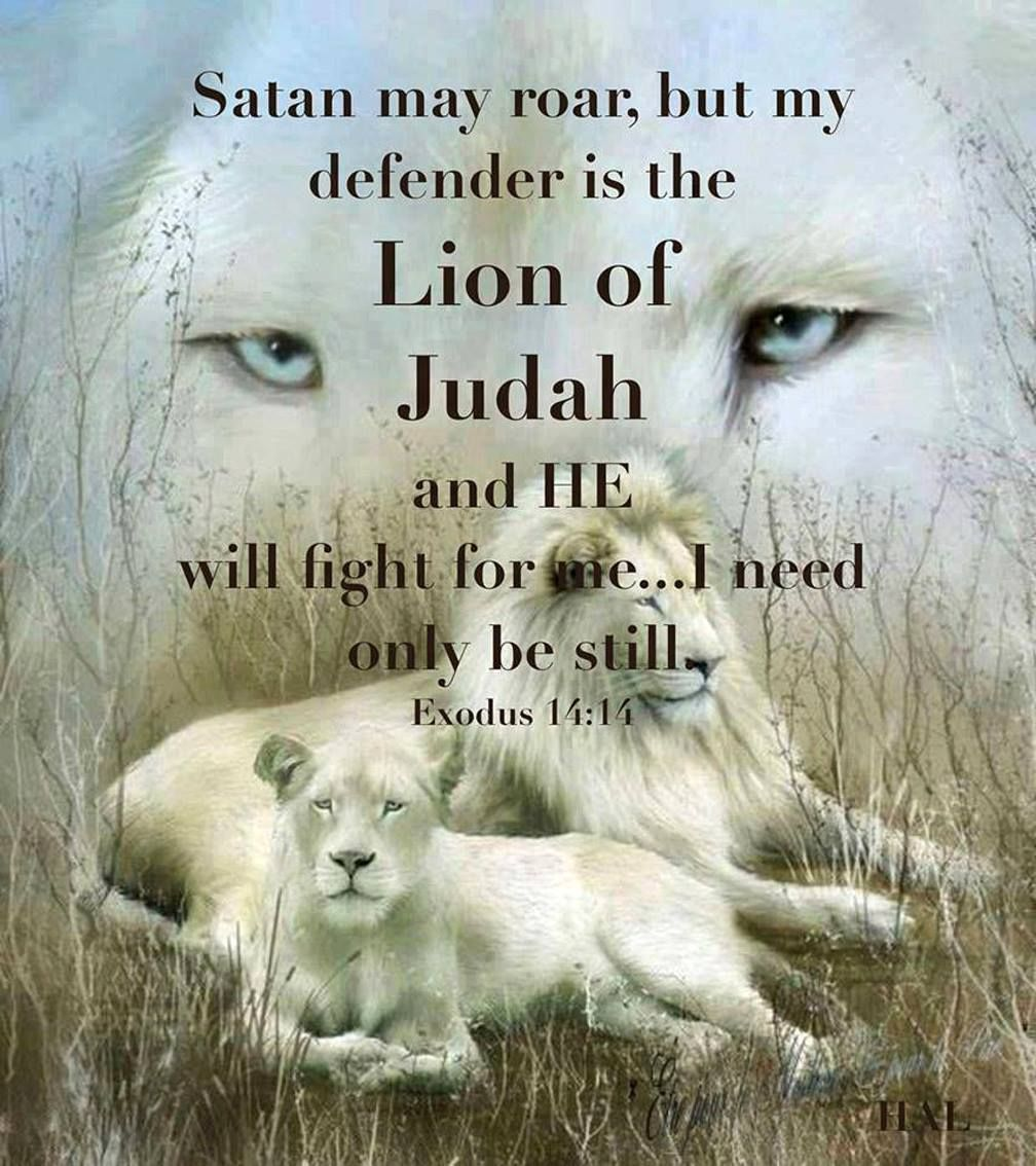 Get lost satan your nothing My defender is the Lion of Judah and