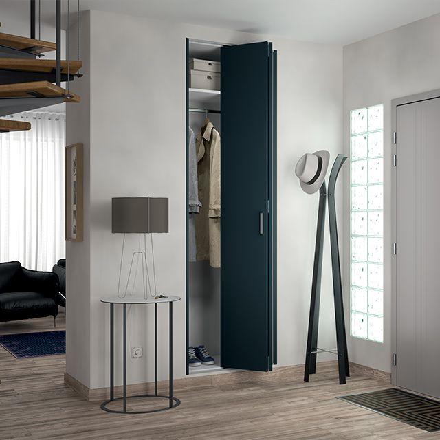 charmant Porte de placard pliante métal anthracite KAZED 70 x 205 cm | Porte de  placard pliante, Portes de placard et Castorama