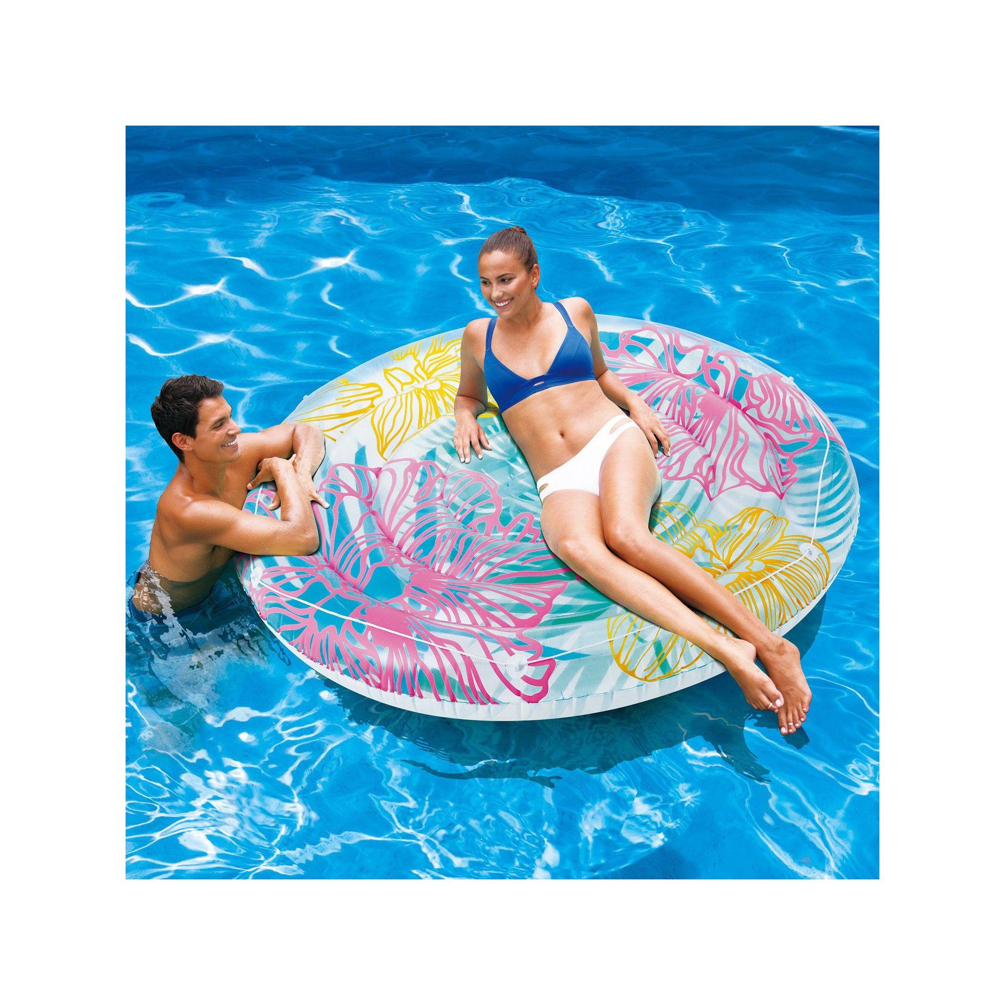 Pool\' Summer Waves 65 X 65 X 7 Inflatable Hibiscus Island ...