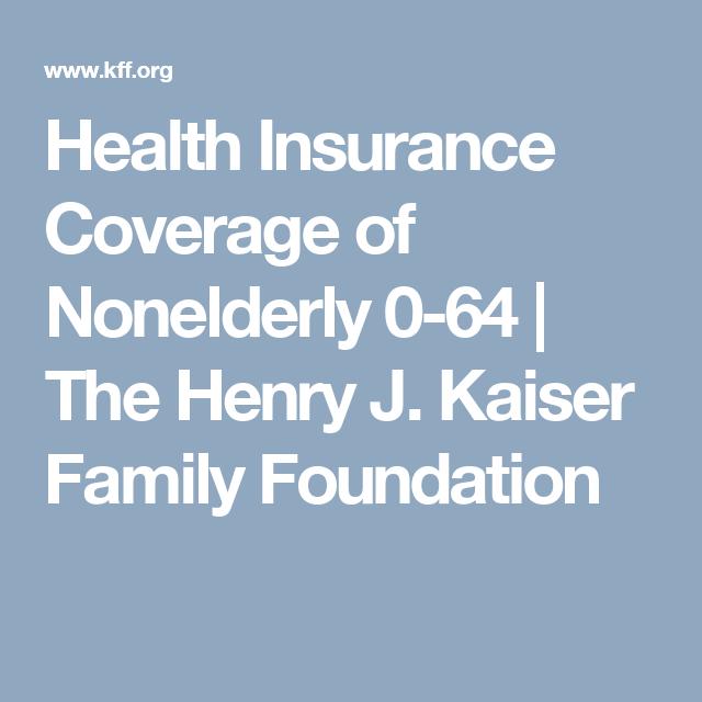 Health Insurance Coverage Of Nonelderly 0 64 The Henry J Kaiser