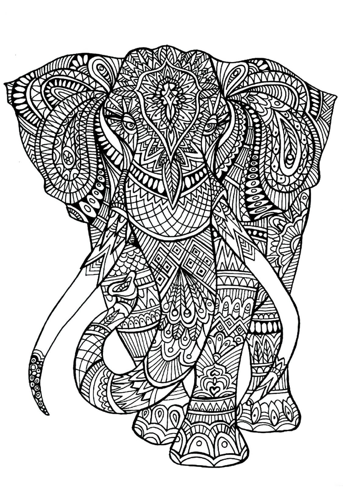 Coloriage Mandala A Imprimer Animaux Elephant En 2020 Coloriage Mandala Coloriage Elephant Coloriage
