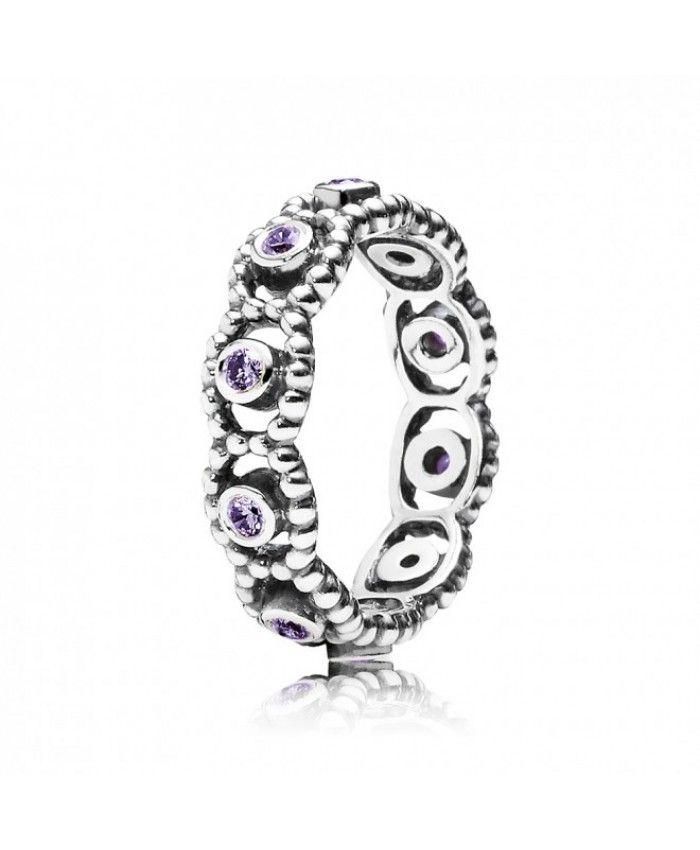 b67f19b4d PANDORA Purple Romance Ring | Pandora Purple Ring | Pandora earring ...