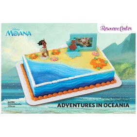 Moana Adventures In Oceania Decoset 174 1 4 Sheet Cake Dec