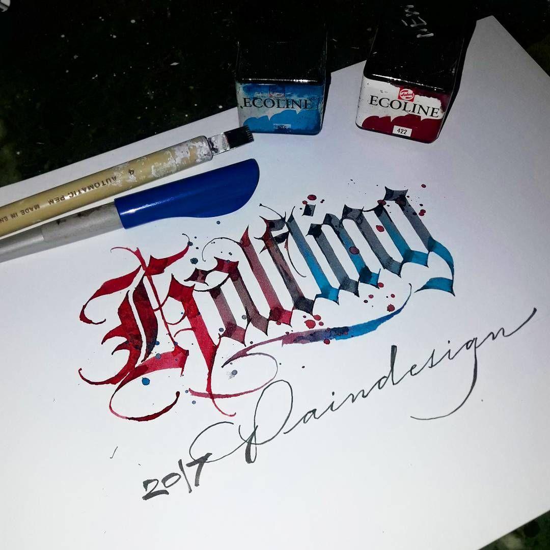 Pin Od Piotr łukaszkiewicz Na Calligraphy Madness Kaligrafia