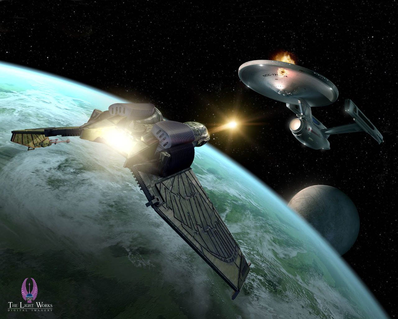 Klingon Bird Of Prey Attacking Star Trek Wallpaper Star Trek