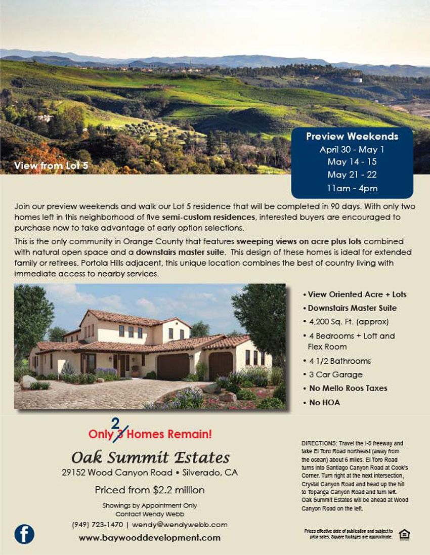 Turn garage into master bedroom  New Homes for Sale in Silverado California Now Selling OC New Homes