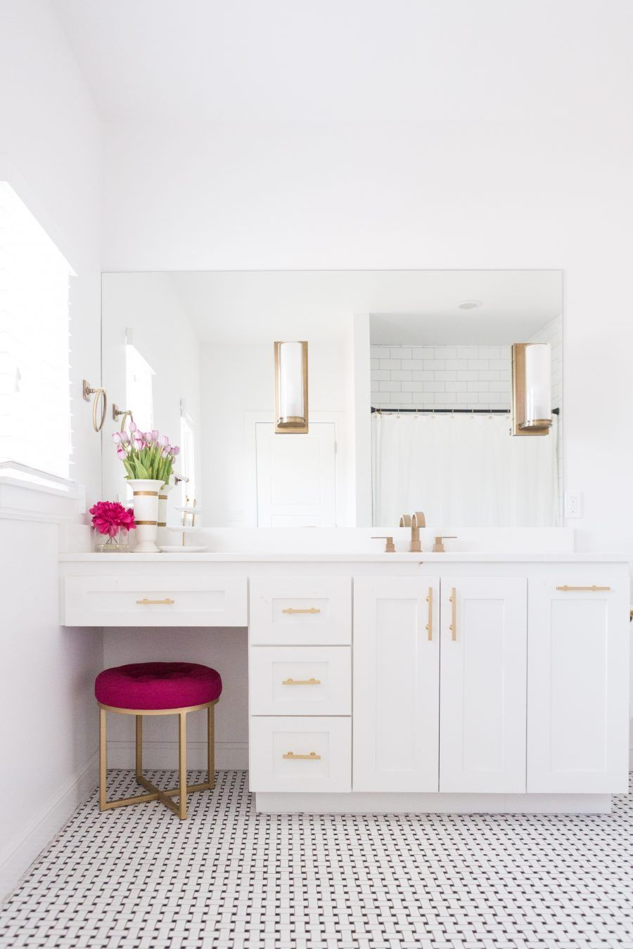 Modern Home Decor Ideas-Brass and Silver Sconces | Bathroom black ...