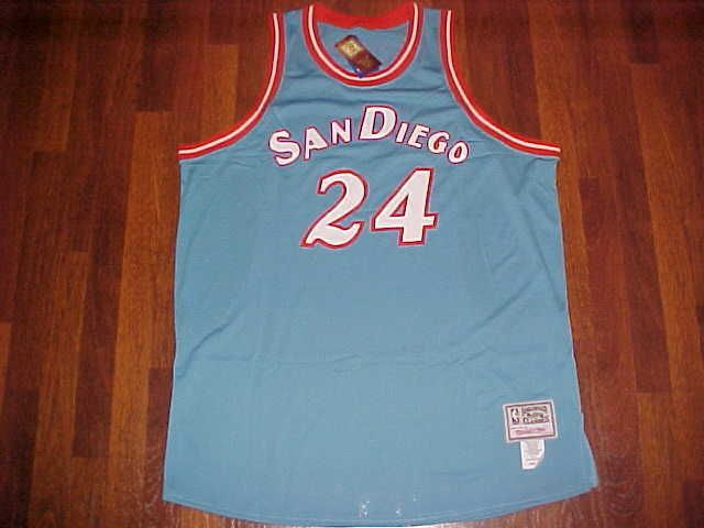 cheap for discount 98081 7cfa7 Details about World B. Free San Diego Clippers Throwback ...