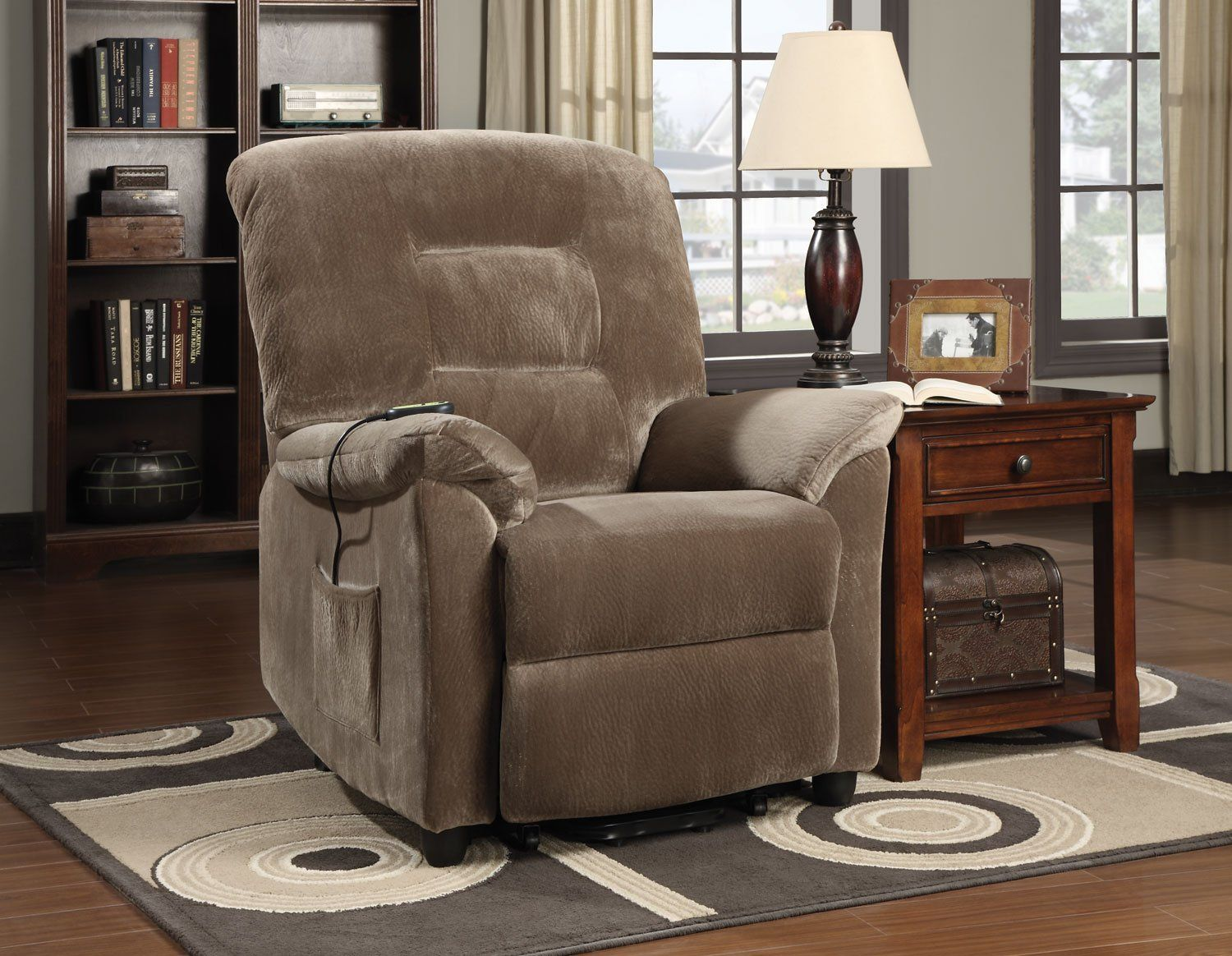 Brown Sugar Casual Living Room Power Lift Recliners