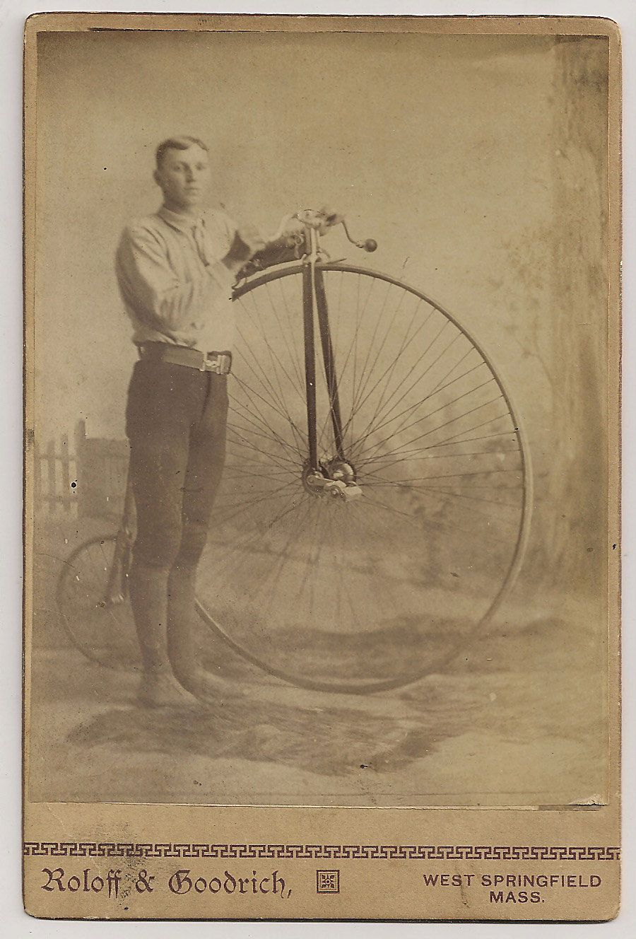Big Wheel Bicycle West Springfield Mass Cabinet Card High